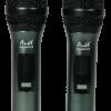 Двоен UHF микрофон MU218 със сменяема честота - 80м. дистанция