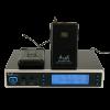Двоен UHF микрофон MU218H за глава със сменяема честота