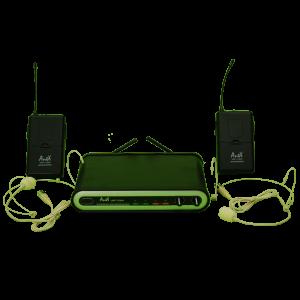 Двоен безжичен микрофон UHF 113HH за глава на топ цена!