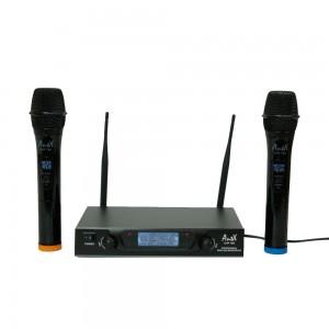 Двоен безжичен микрофон UHF 766