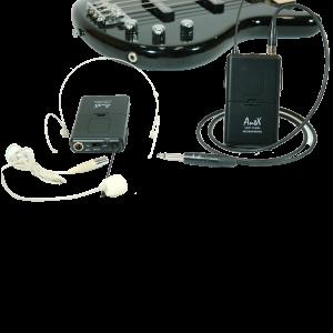 Двоен безжичен микрофон за китара UHF 113HG