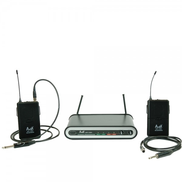 Двоен безжичен микрофон UHF 113GG