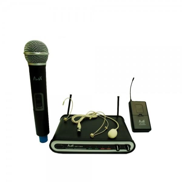 Комплект инструментален и вокален безжичен микрофон UHF 113TH