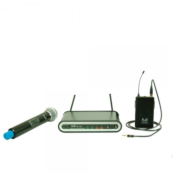 Комплект инструментален и вокален микрофон UHF 113CV