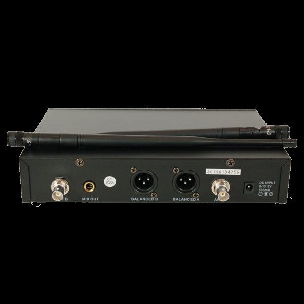 Двоен UHF микрофон със сменяема честота 2x100 канала
