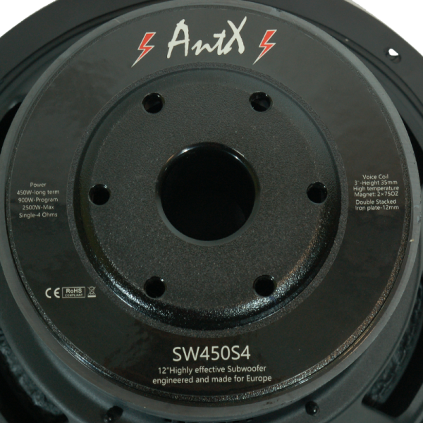 "Говорител / субуфер за бас каса, бас туба SW450S4-12"" - 450W"