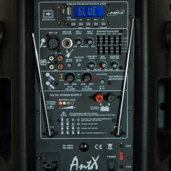 Караоке колона PS12-2U - 12 инча 100W + 2 микрофона
