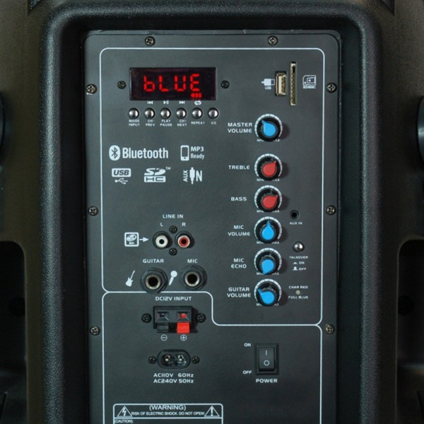 Караоке тонколона SP12D - 12 инча + 2 микрофона