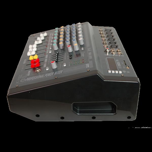 Професионален миксер с вграден усилвател MA600 - 6 канален + дисплей