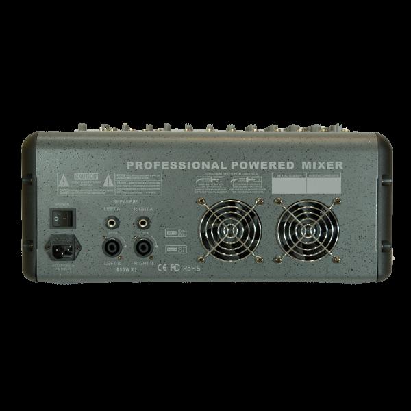 Много мощен миксер с вграден усилвател 860 - 8 канален + USB